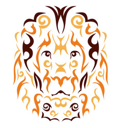 Tribal lion vector