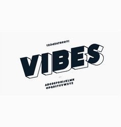 Vibes font modern style vector