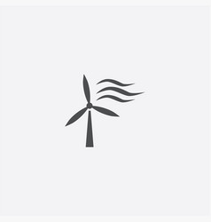 Wind power icon vector