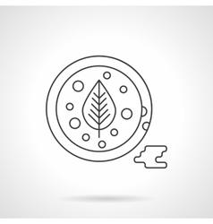 Tomato sauce flat thin line icon vector image