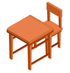 3d design for desk and chair vector image
