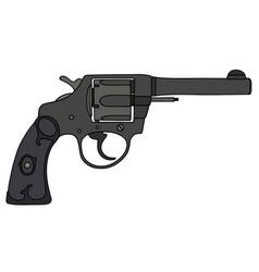 classic black revolver vector image vector image