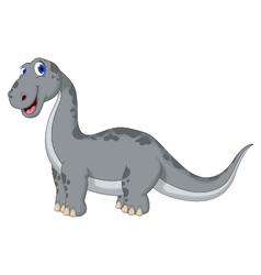 cute dinosaur cartoon looking at camera vector image vector image