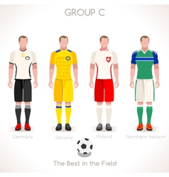 EURO 2016 GROUP C Championship vector image vector image