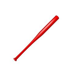 baseball bat in red design vector image