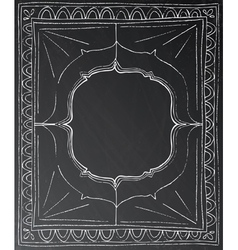 Chalk painted frame on black background vector image