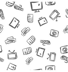 computer pattern vector image vector image
