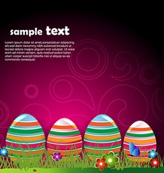 funky easter egg vector image