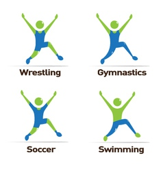 Olympic athletes vector image