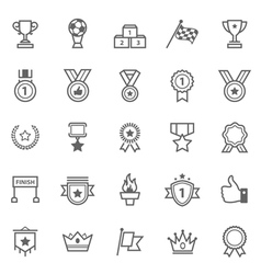 Set of Outline Stroke Award and Trophy Icons vector image vector image