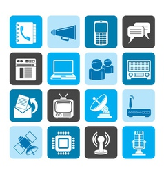 Silhouette Communication and technology vector image
