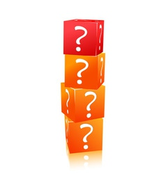 stack of cubes with question mark vector image