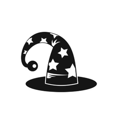 Wizards hat icon simple style vector