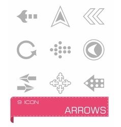 Arrows icon set vector image