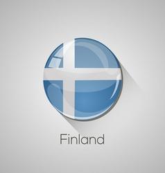 European flags set - Finland vector image vector image