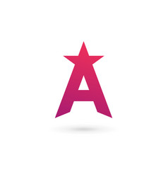 letter a star logo icon design template elements vector image vector image