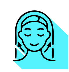 Aesthetic cosmetology line icon pictograph vector