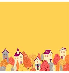 Autumn background down vector