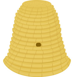 beehive woven from straw on a white background vector image