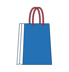 Blue paper bag shopping empty vector