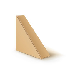 brown blank cardboard triangle take away vector image