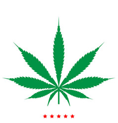Cannabis marijuana leaf icon flat style vector