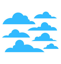 clouds icon blue color isolated on white vector image
