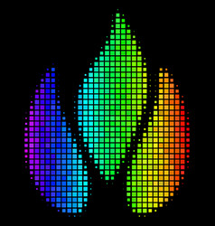 Colored dotted fire icon vector