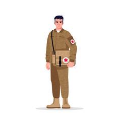 Combat medic semi flat rgb color vector
