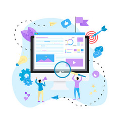 concept for digital marketing agenc vector image