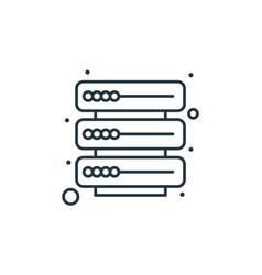 Database icon database editable stroke database vector