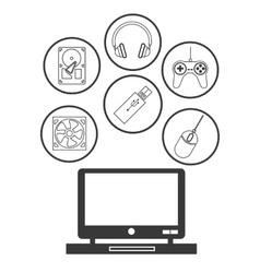Device design Gadget icon White background vector
