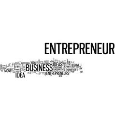 Entrepreneur idea guide text background word vector