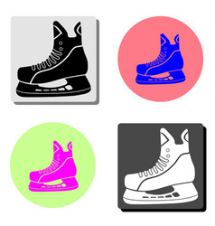 figure skates flat icon vector image