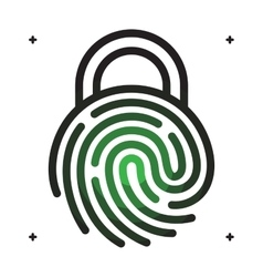 Fingerprint with lock shape vector