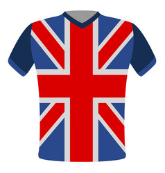 flag t-shirt of the united kingdom vector image