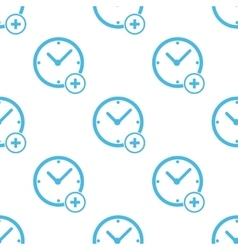 Flat add time pattern vector image