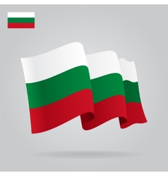Flat and waving Bulgarian Flag vector image