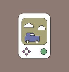 flat icon design collection portable game vector image