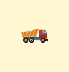 Flat icon dumper truck element vector