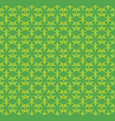 flowers pattern ornament green vector image