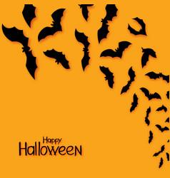 halloween bats background hand draw vector image