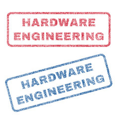 Hardware engineering textile stamps vector