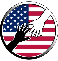 help in USA vector image