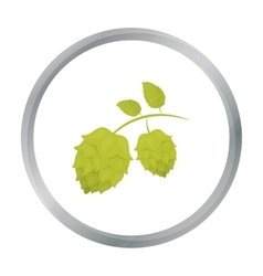 Hops icon in cartoon style isolated on white vector