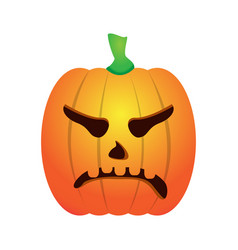 isolated angry jack-o-lantern vector image