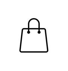 line shopping bag icon on white background vector image
