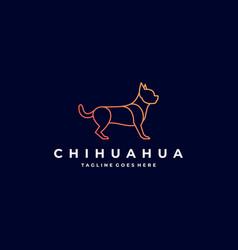 logo chihuahua pose line art vector image