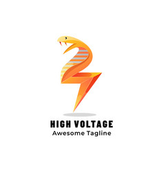 Logo high voltage gradient colorful style vector