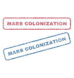 Mars colonization textile stamps vector